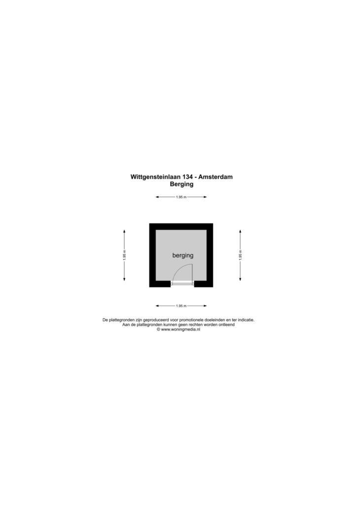Amsterdam – Wittgensteinlaan 134 – Plattegrond 3
