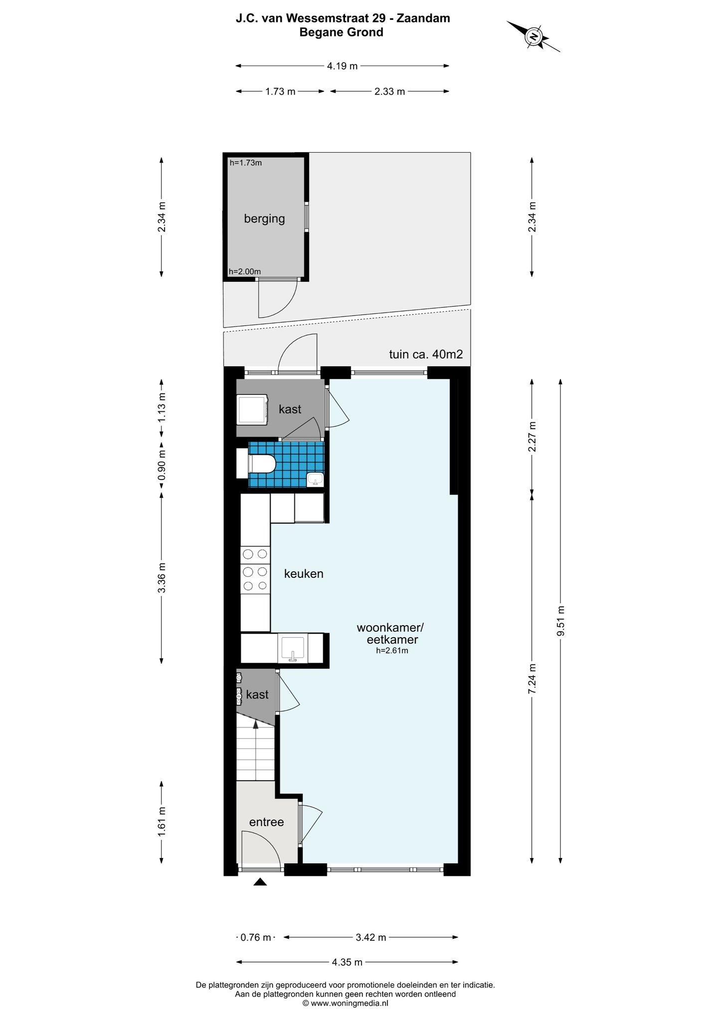 Zaandam – J.C. van Wessemstraat 29 – Plattegrond 3