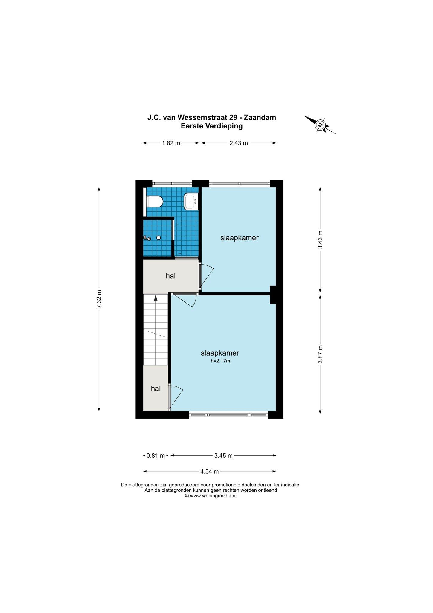 Zaandam – J.C. van Wessemstraat 29 – Plattegrond 7