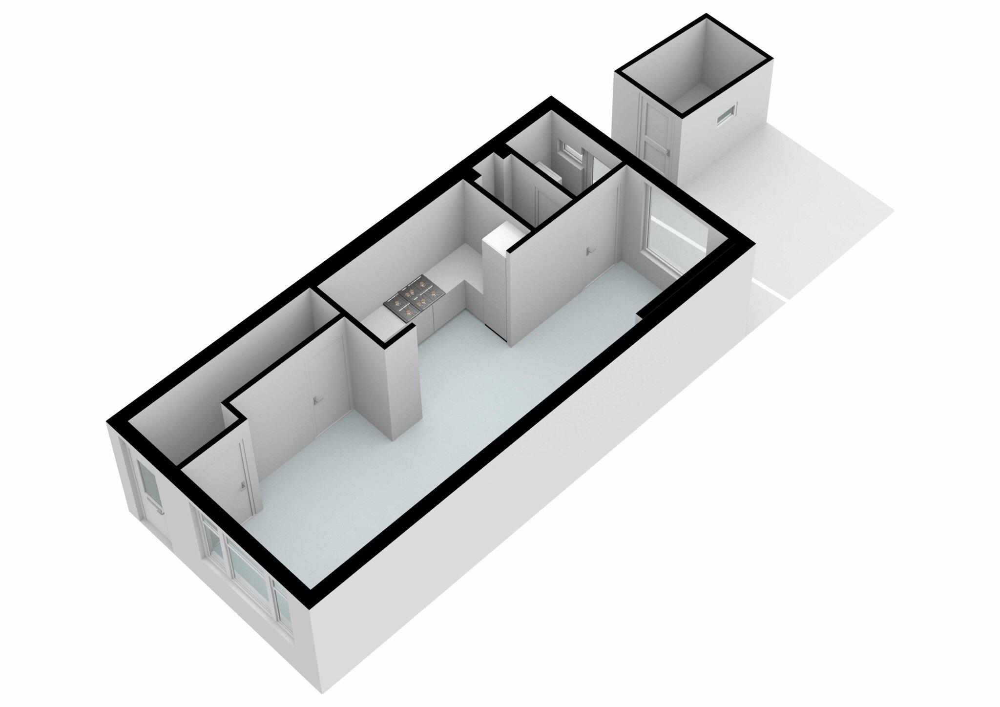Zaandam – J.C. van Wessemstraat 29 – Plattegrond 6