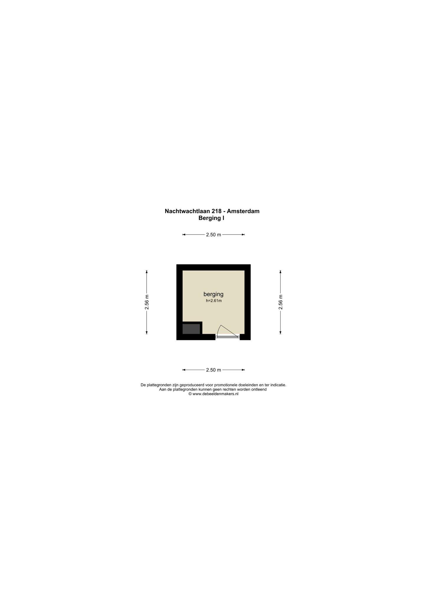 Amsterdam – Nachtwachtlaan 218 – Plattegrond 2