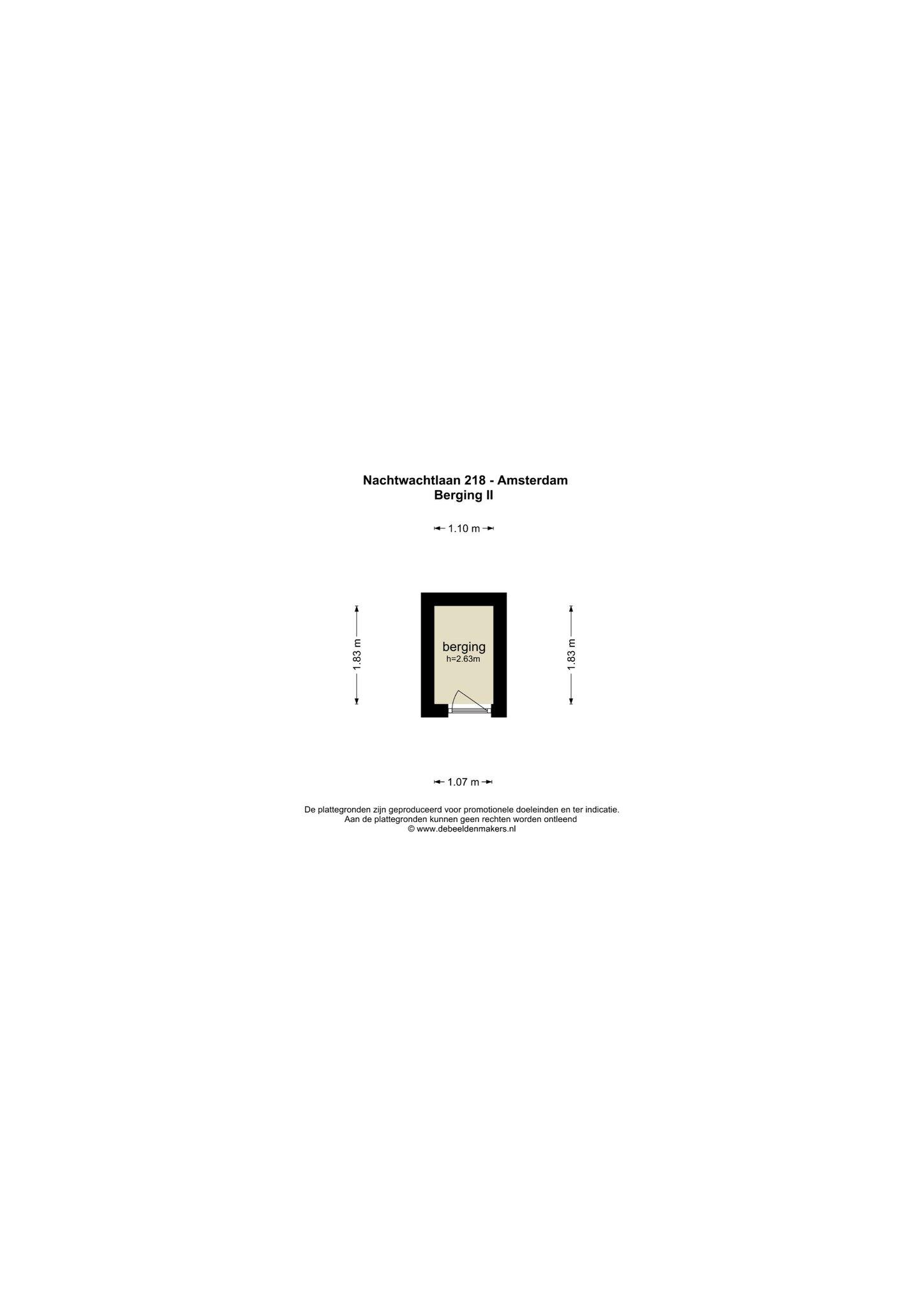 Amsterdam – Nachtwachtlaan 218 – Plattegrond 3