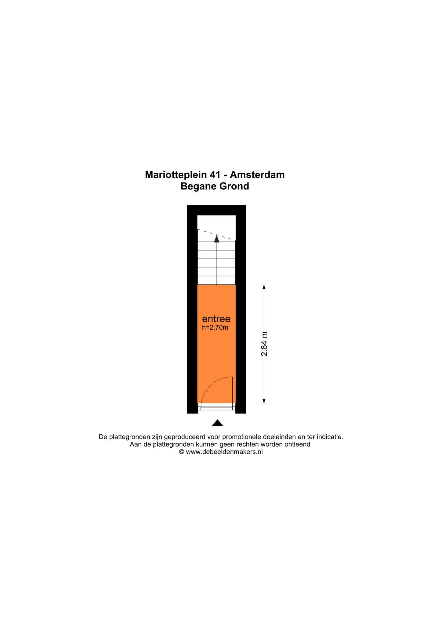 Amsterdam – Mariotteplein 41I – Plattegrond
