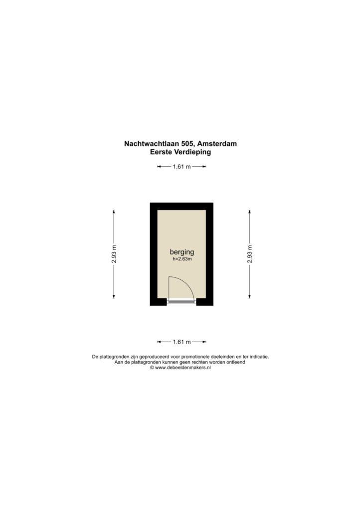 Amsterdam – Nachtwachtlaan 505 – Plattegrond