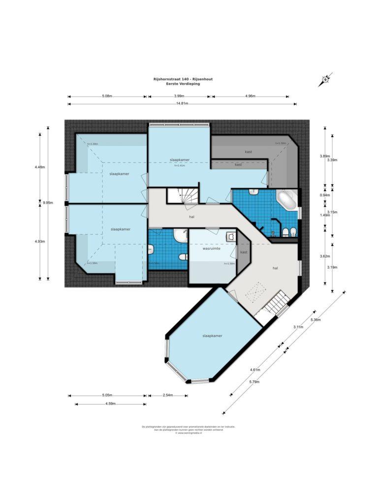 Rijsenhout – Rijshornstraat 140* – Plattegrond 2