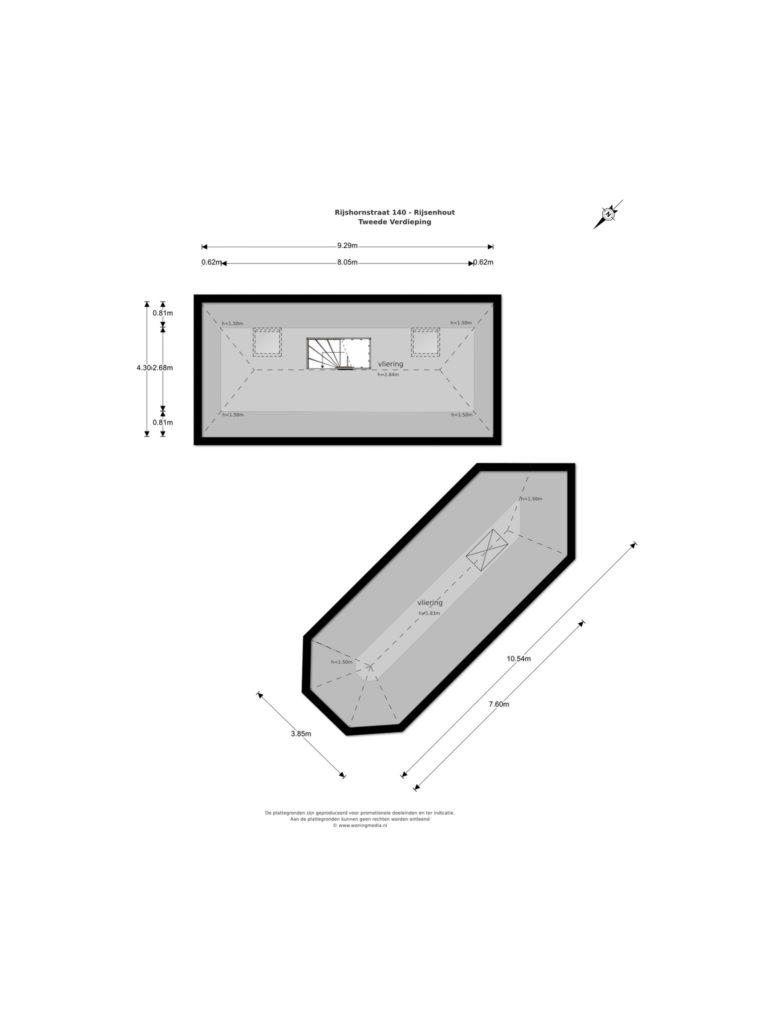 Rijsenhout – Rijshornstraat 140* – Plattegrond