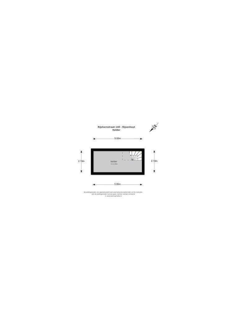Rijsenhout – Rijshornstraat 140* – Plattegrond 3