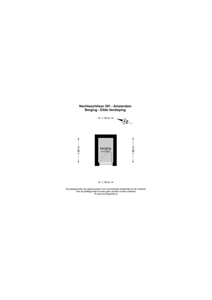 Amsterdam – Nachtwachtlaan 391 – Plattegrond