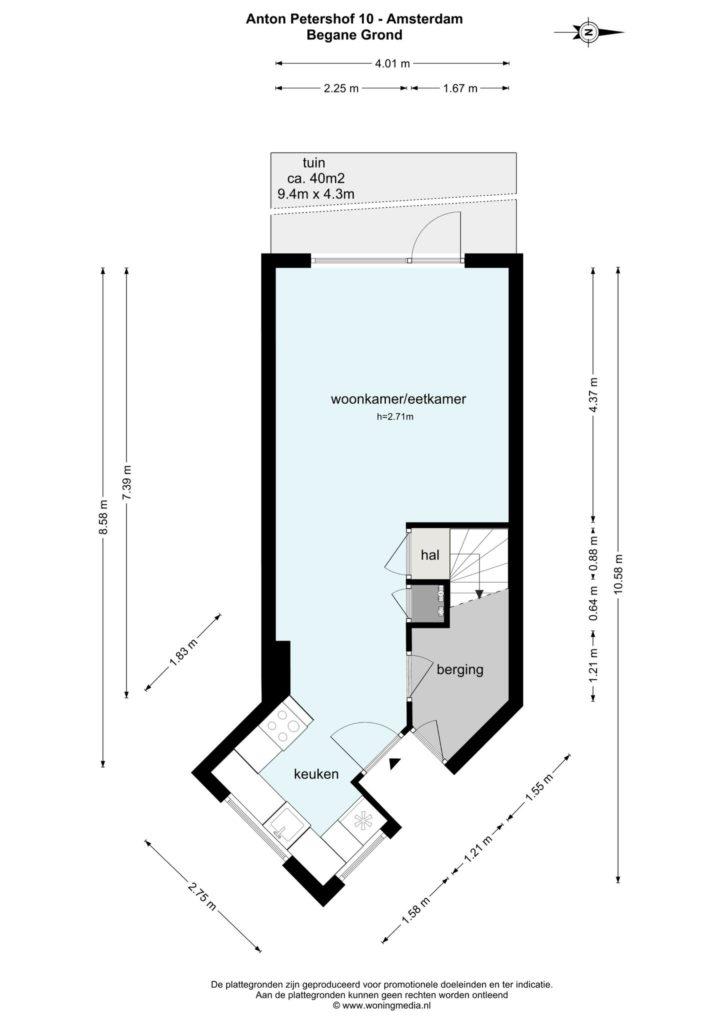 Amsterdam – Anton Petershof 10 – Plattegrond