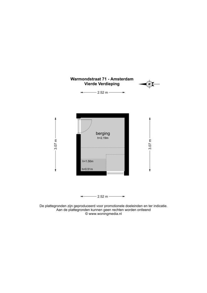 Amsterdam – Warmondstraat 71II – Plattegrond 5
