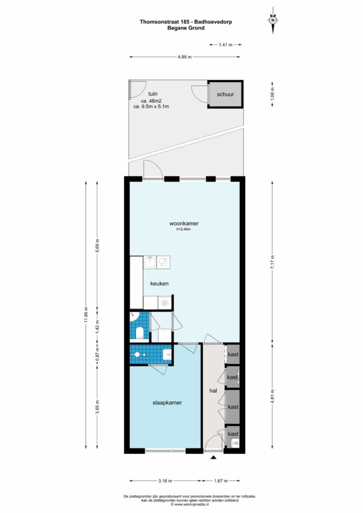 Badhoevedorp – Thomsonstraat 185 – Plattegrond