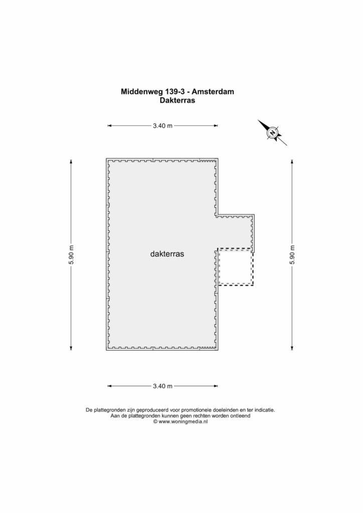 Amsterdam – Middenweg 139-III – Plattegrond 5