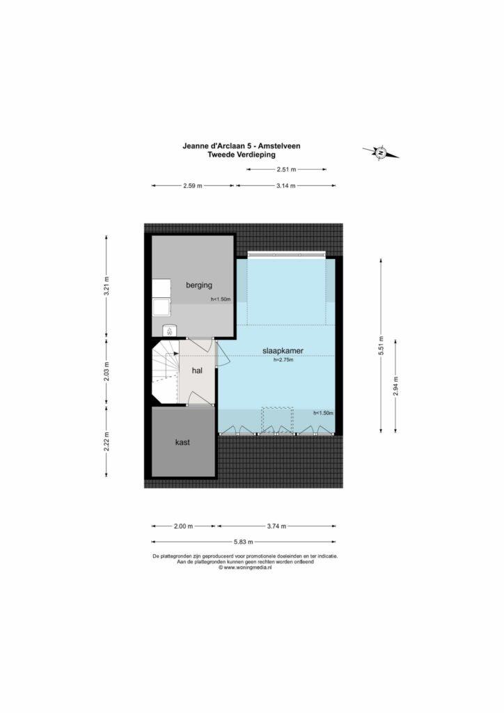 Amstelveen – Jeanne d'Arclaan 5 – Plattegrond 5