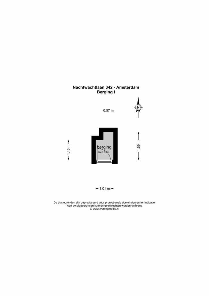 Amsterdam – Nachtwachtlaan 342 – Plattegrond 2