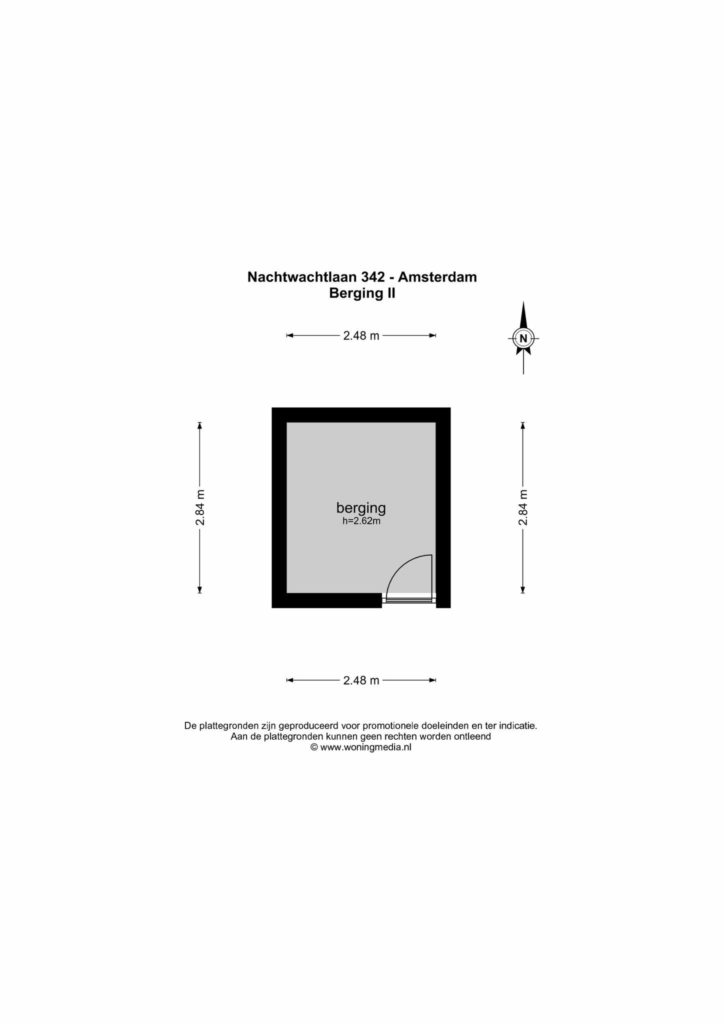 Amsterdam – Nachtwachtlaan 342 – Plattegrond 3
