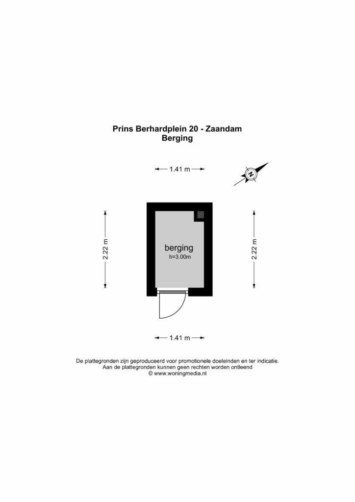 Zaandam – Prins Bernhardplein 20 – Plattegrond 2