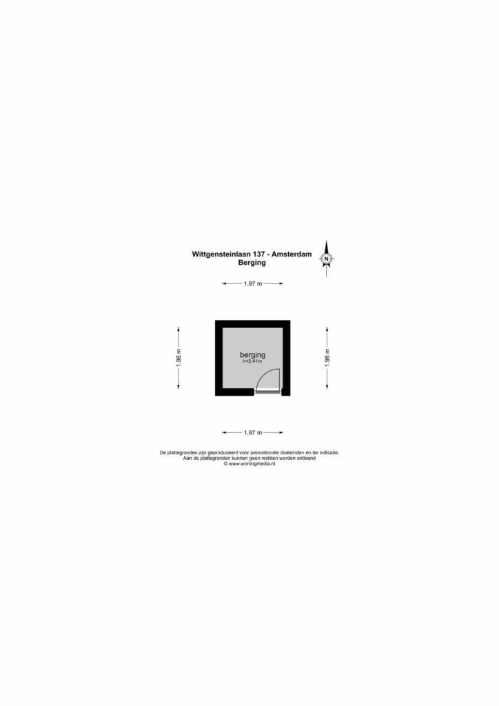 Amsterdam – Wittgensteinlaan 137 – Plattegrond 5