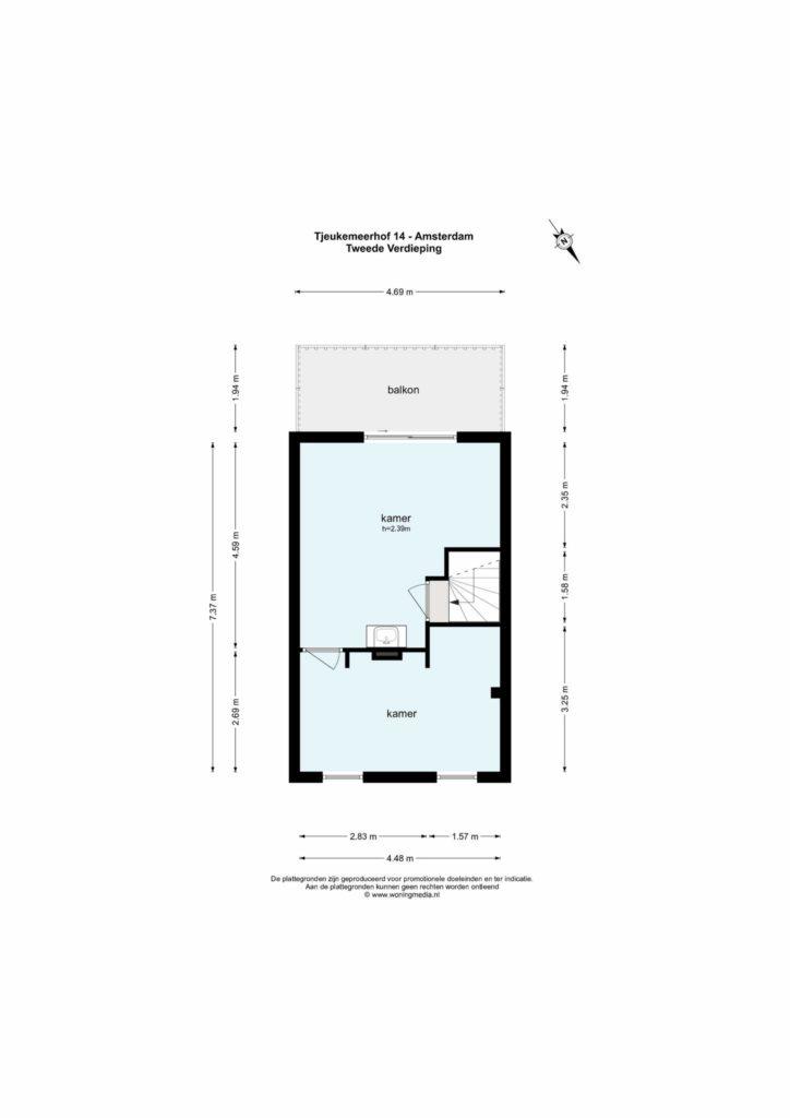 Amsterdam – Tjeukemeerhof 14 – Plattegrond 7
